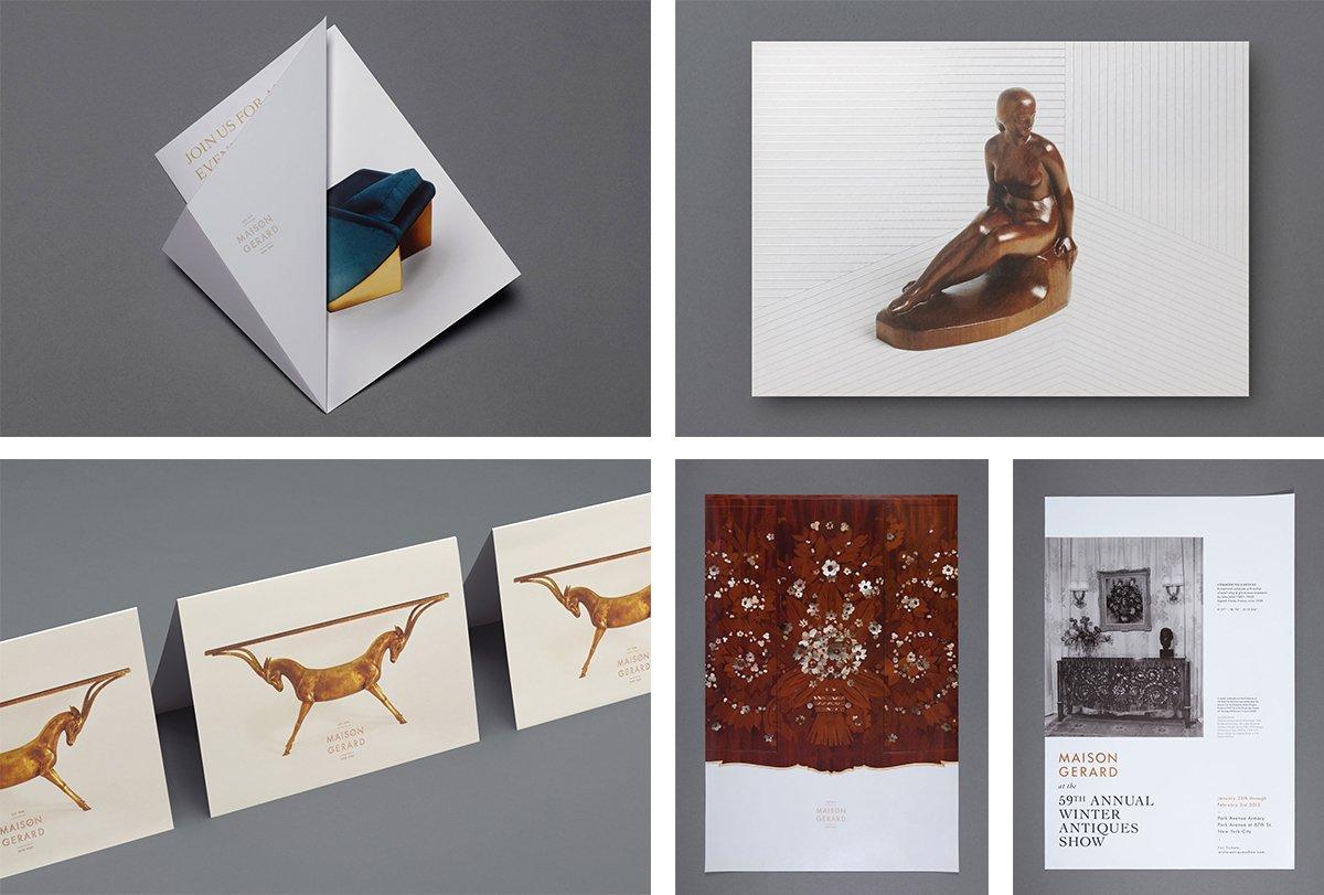 国外艺术古董品牌vi设计和产品手册设计欣赏