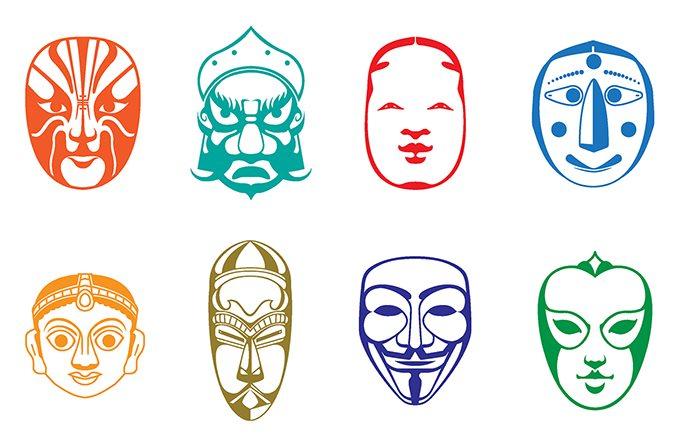 使用中文明确说明面剧场的名字,色彩缤纷的vi设计延伸到一系列国际