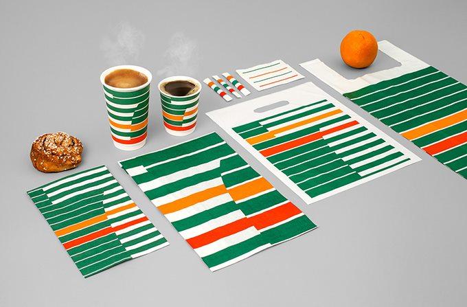 7-11便利店旗下咖啡vi设计